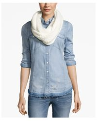 BCBGeneration | Blue Thick And Thin Infinity Loop Scarf | Lyst