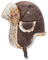 Woolrich | Brown Men's Weathered Trapper Hat for Men | Lyst