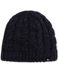 Tommy Hilfiger - Blue Men's Fleece-lined Cable Hat for Men - Lyst