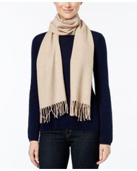 Calvin Klein | Blue Solid Woven Scarf | Lyst