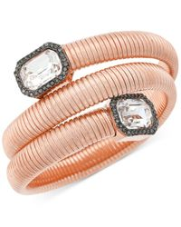 Vince Camuto - Pink Rose Gold-tone Coiled Crystal Bracelet - Lyst