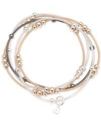 Nine West | Multicolor Tri-tone 5-pc. Set Beaded Stretch Bracelets | Lyst
