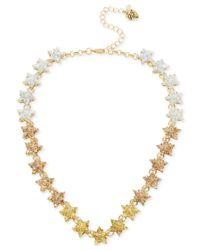Betsey Johnson - Metallic Gold-tone Ombré Glitter Star Collar Necklace - Lyst
