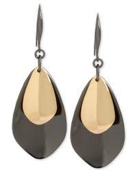 Robert Lee Morris - Metallic Two-tone Layered Sculptural Drop Earrings - Lyst