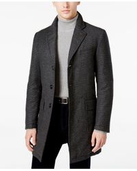 Sanyo - Gray Men's Chesterfield Houndstooth Down Overcoat for Men - Lyst