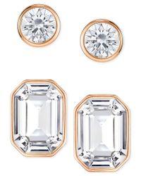Swarovski | Metallic Rose Gold-tone 2-pc. Set Crystal Stud Earrings | Lyst