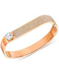 Swarovski   Metallic Crystal And Pave Hinged Bangle Bracelet   Lyst