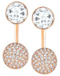 Swarovski   White Crystal And Pave Earring Jacket Earrings   Lyst