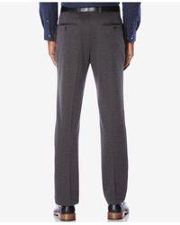 Perry Ellis - Gray Men's Knit Slim-fit Dress Pants for Men - Lyst