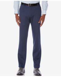 Perry Ellis | Blue Men's Knit Slim-fit Dress Pants for Men | Lyst