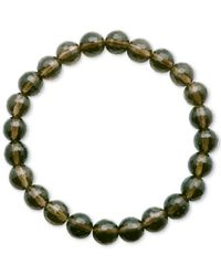 Macy's | Green Faceted Bead Brown Stone Stretch Bracelet | Lyst
