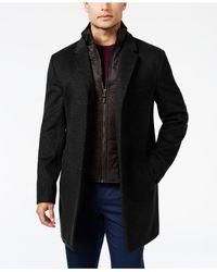 Michael Kors | Black Michael Men's Water-resistant Overcoat With Zip-out Liner for Men | Lyst