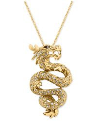 Effy Collection | Metallic Diamond Dragon Pendant Necklace (5/8 Ct. T.w.) In 14k Gold | Lyst