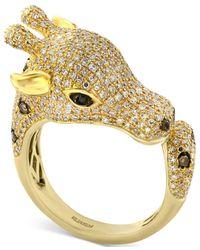 Effy Collection   Metallic Effy Diamond Giraffe Ring (1-1/2 Ct. T.w.) In 14k Gold   Lyst