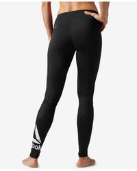 Reebok | Black Workout Ready Leggings | Lyst