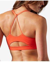 Reebok - Red Workout Ready Light-impact Tri-back Sports Bra - Lyst