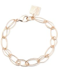 Anne Klein | Metallic Gold-tone Large Double-link Bracelet | Lyst
