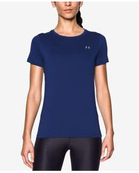 Under Armour | Blue Short-sleeve Heatgear Top | Lyst