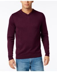 Tommy Bahama | Purple Men's V-neck Ribbed-trim Sweater for Men | Lyst