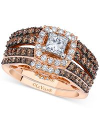 Le Vian   Multicolor Chocolatier Diamond Bridal Set (1-3/4 Ct. T.w.) In 14k Rose And White Gold   Lyst