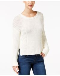 Calvin Klein Jeans | White Ribbed Sweater | Lyst