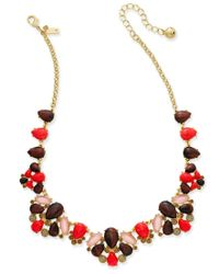 Kate Spade | Multicolor Burst Into Bloom Gold-tone Beaded Collar Necklace | Lyst