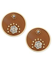 kate spade new york | Metallic Out Of Her Shell Gold-tone Tortoiseshell-look Disc Earrings | Lyst