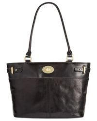 Giani Bernini | Black Glazed Turnlock Tote | Lyst