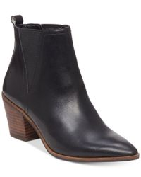 Lucky Brand | Black Women's Lorry Double-gore Point-toe Booties | Lyst
