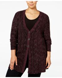Style & Co. | Multicolor Plus Size Space-dyed Flared Cardigan, Only At Macy's | Lyst