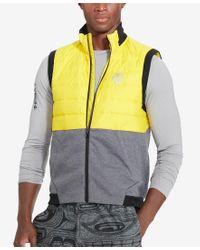 Polo Ralph Lauren   Gray Polo Sport Men's Down Hybrid Vest for Men   Lyst