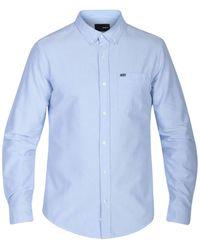 Hurley | Blue Men's Long-sleeve Koa Shirt for Men | Lyst