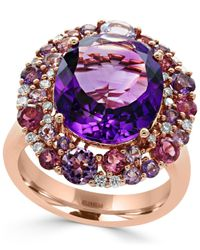 Effy Collection | Amethyst (7-3/8 Ct. T.w.), Pink Tourmaline (3/4 Ct. T.w.) And Diamond (1/5 Ct. T.w.) Ring In 14k Rose Gold | Lyst