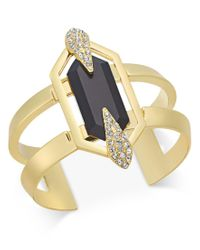 INC International Concepts | Metallic Gold-tone Black Crystal Cuff Bracelet, Oly At Macy's | Lyst