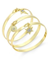 INC International Concepts | Metallic Gold-tone 3-pc. Charm Bangle Bracelet Set, Only At Macy's | Lyst