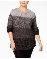 Style & Co. | Gray Plus Size Ombre Sweater, Only At Macy's | Lyst