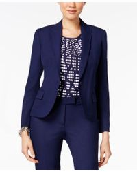 Anne Klein | Blue Single-button Blazer | Lyst