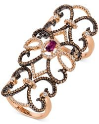 Le Vian | Metallic Rhodolite Garnet (3/8 Ct. T.w.) And Diamond (1-1/5 Ct. T.w.) Knuckle Ring In In 14k Rose Gold | Lyst