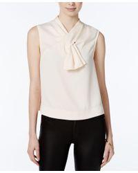 RACHEL Rachel Roy | White Sleeveless Bow Top, Only At Macy's | Lyst