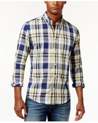 Tommy Hilfiger | Yellow Men's Franklin Plaid Shirt for Men | Lyst