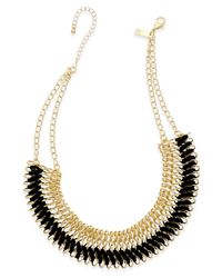 INC International Concepts | Black Faux-suede Woven Chain Collar Necklace, Only At Macy's | Lyst