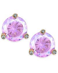 kate spade new york | Purple Gold-tone Pastel Crystal Stud Earrings | Lyst