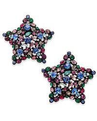 kate spade new york | Multicolor Black-tone Crystal Star Stud Earrings | Lyst