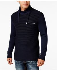 INC International Concepts | Blue Men's Textured Funnel-neck Sweater, Only At Macy's for Men | Lyst