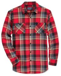 American Rag | Red Men's Plaid Flannel Shirt, Only At Macy's for Men | Lyst
