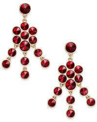 Charter Club | Red Crystal Chandelier Earrings, Only At Macy's | Lyst