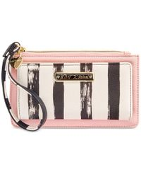 Betsey Johnson | Pink Boxed Stripe Wallet, A Macy's Exclusive Style | Lyst