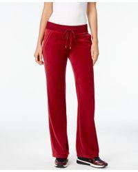 Michael Kors | Red Michael Petite Velour Pull-on Pants | Lyst