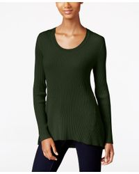 Style & Co.   Green Petite Scoop-neck Sweater, Only At Macy's   Lyst