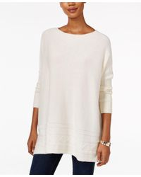 Style & Co. | White Petite Textured Sweater, Only At Macy's | Lyst